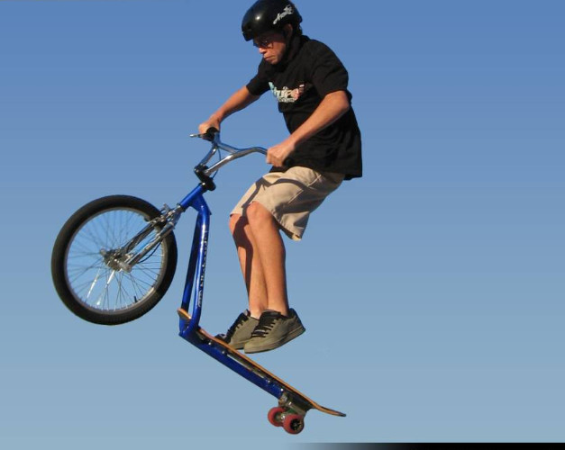 Bike board jump