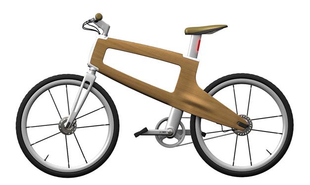 Velo urbain en bois concept