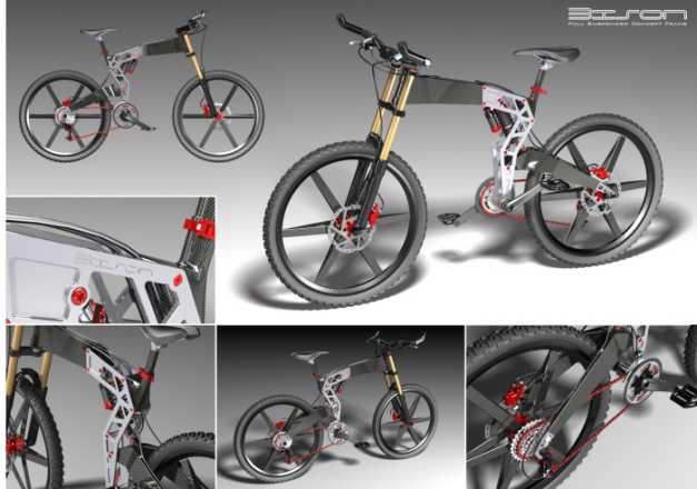 Bison bike design Bimota Tesi