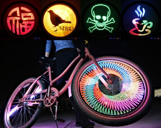 Eclairage de roue de velo Wheelad