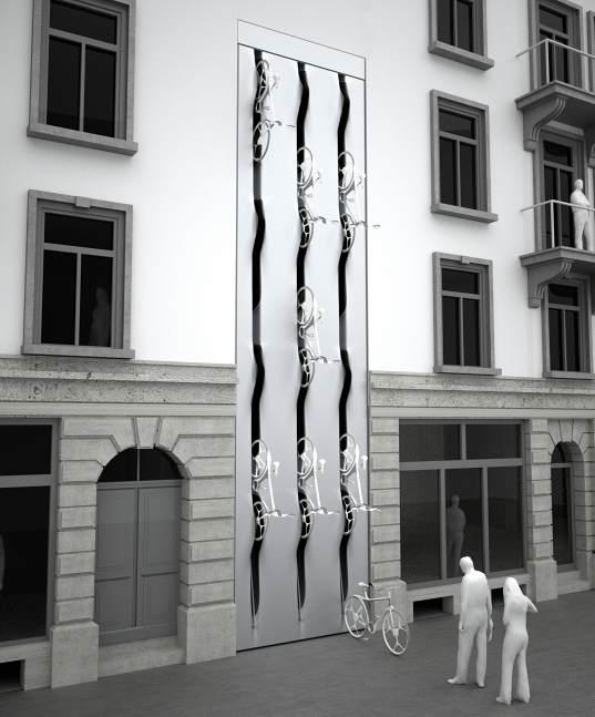 Stockage de velos en facade