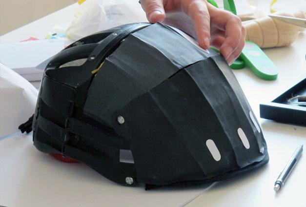Prototype de casque de velo