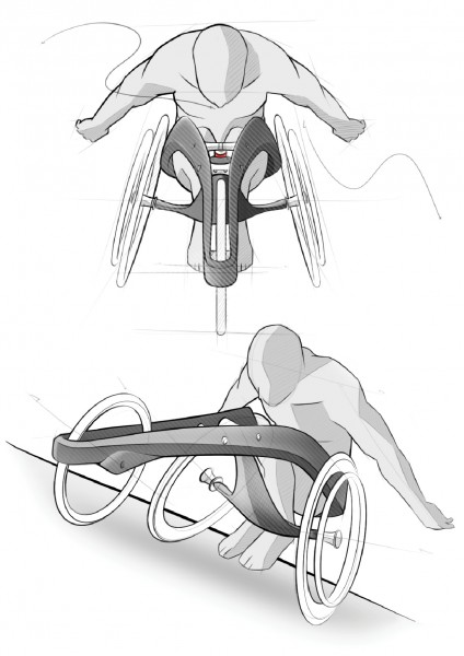 Wheelchair design sketch