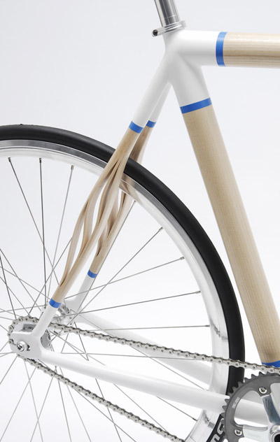 Wood and metal bike frame