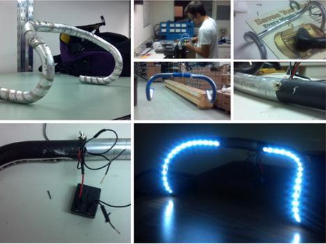 Prototype de cintre de velo a LEDs