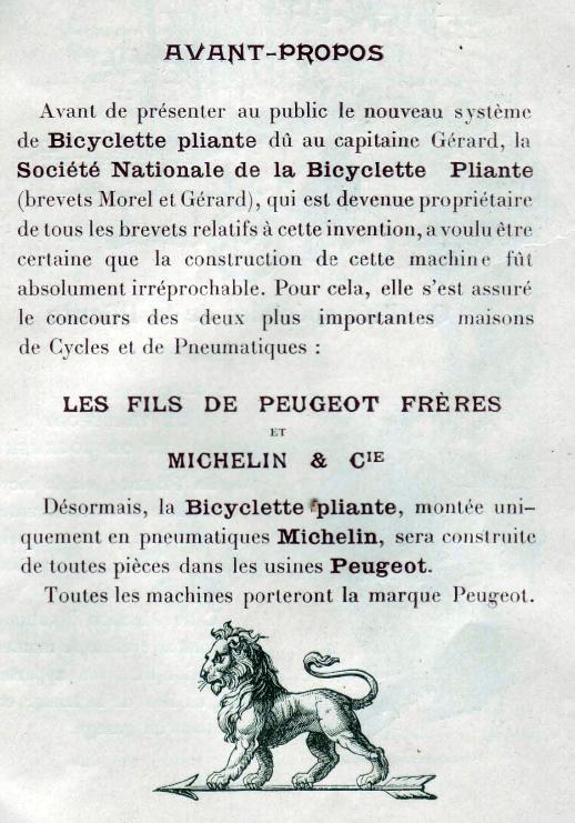 Velo de guerre pliant Peugeot