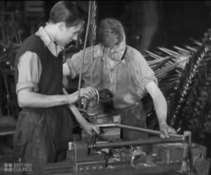 Fabrication de velo en 1945
