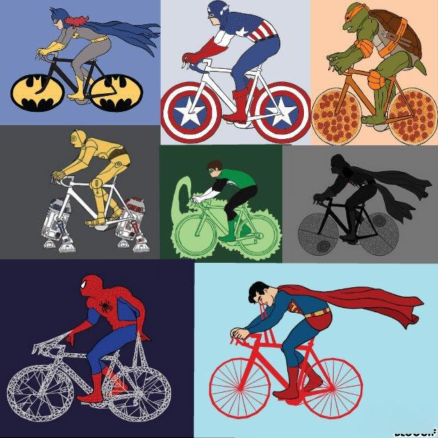 Velo des super heros