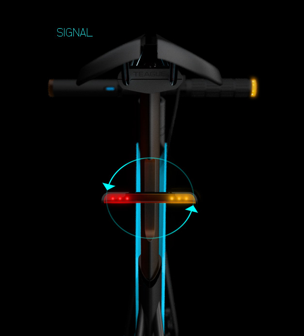 Concept bicycle lumineux