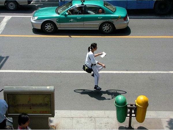 Floating bike Zhao Huasen