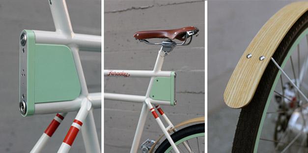Garde boue pour vélo en bambou