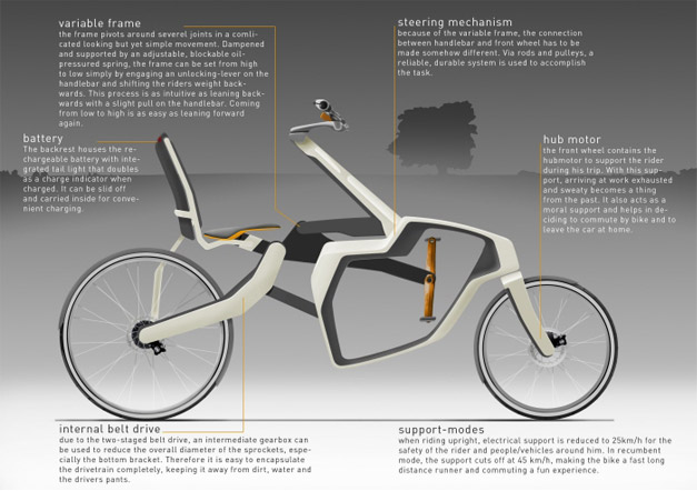 Velo couche au design transformable