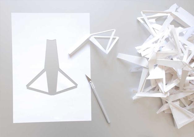Velo en decoupe papier