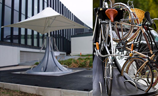 Vertical station for bicycles