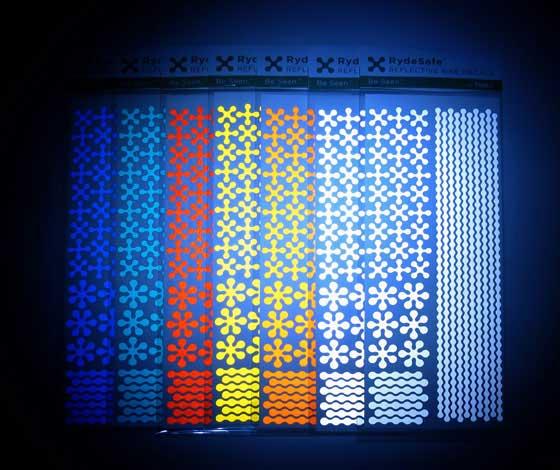 Stickers pour visibilite de nuit a velo