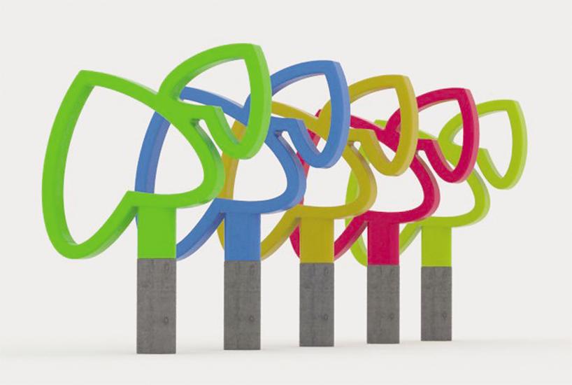Appui-velo design par Hamed Kohan
