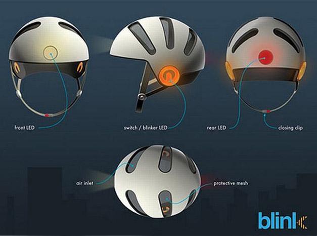 Casque cycliste a LEDs