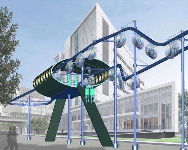 Cyclo-monorail urbain