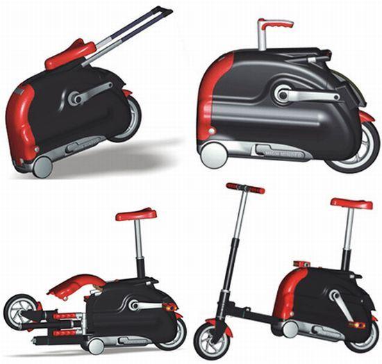 Suitcase folding bike