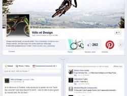 Page Facebook velo design
