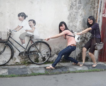 Bicycle street art