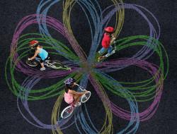 Chalktrail, de l'art avec son velo