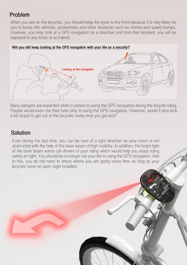 GPS projecteur velo Open Sight