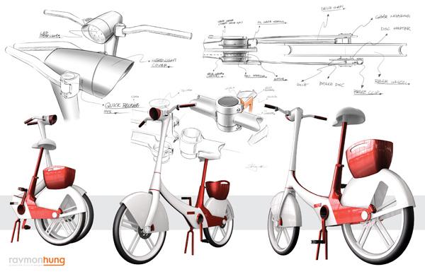 Folding woman bike concept