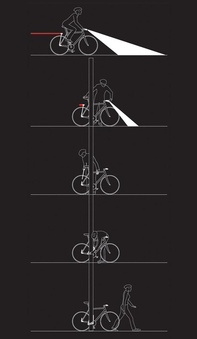 Light bike lock