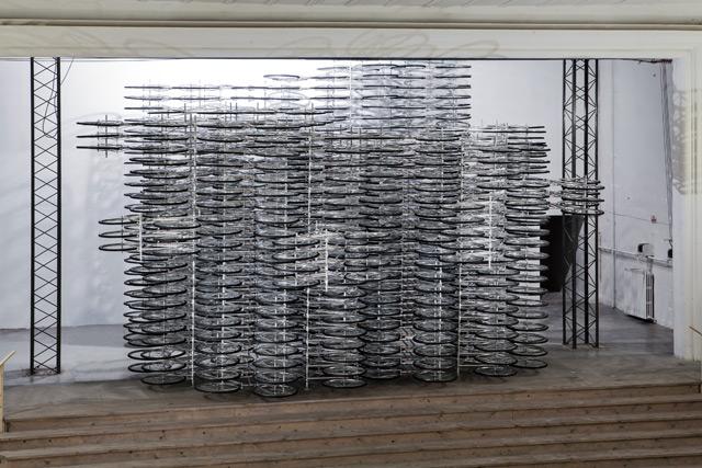 Installation artistique avec des velos