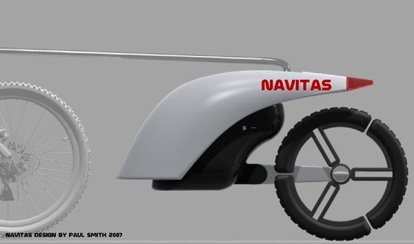 Navitas, remorque velo generatrice d'energie electrique