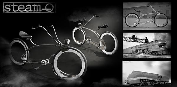 Steam-o, bicyle concept