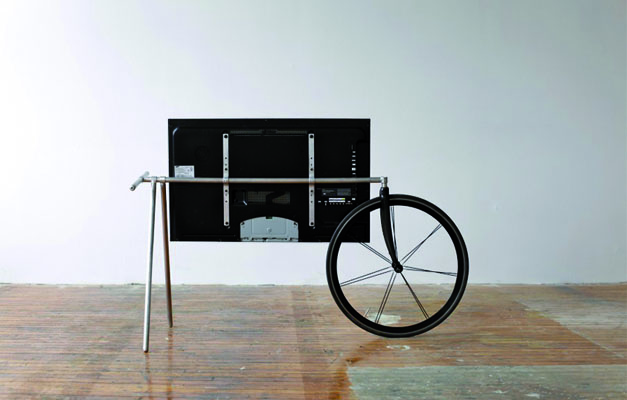 Television transportable a velo