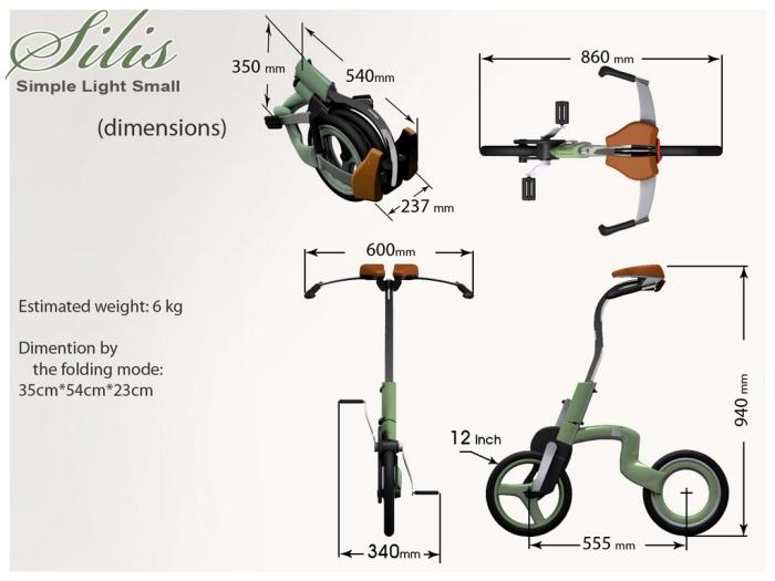 Compact city bike Silis