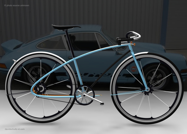Porsche bike concept par David Schultz