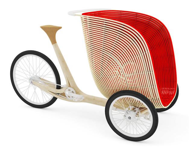 Triporteur en bambou des designers Fritsch Durisotti