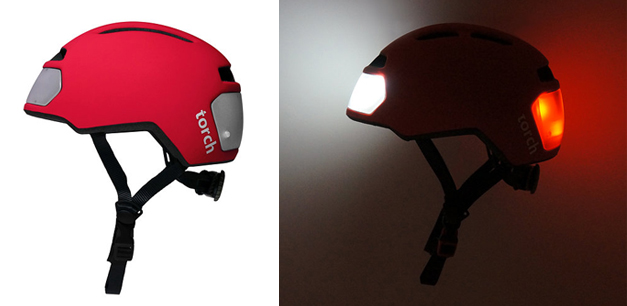 Torch lighting helmet