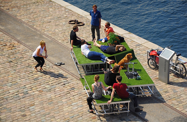 Parkcycle swarm mobile urban parks by Rebar Group and N55