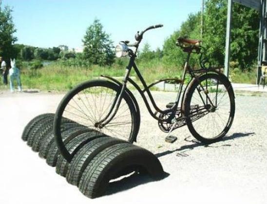 Rack a velo en pneu