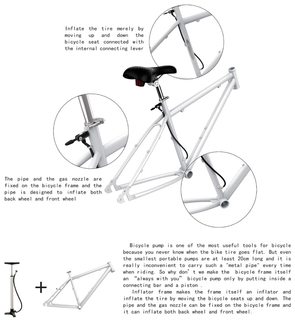 Inflator bicycle design