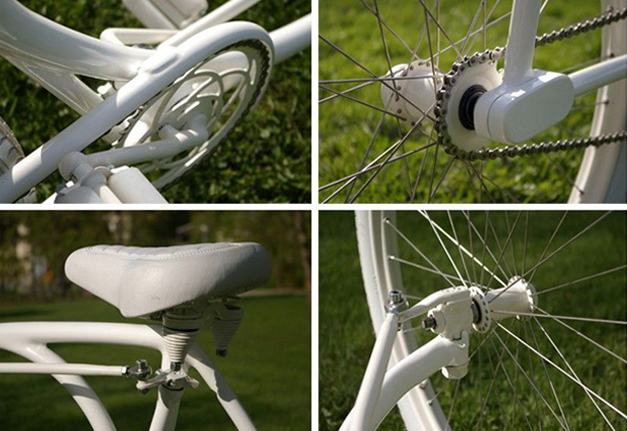 Forkless bicycle details