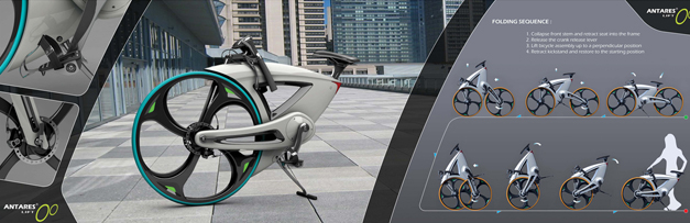 Bicyclette pliante futuriste