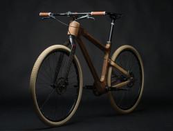 Velo en bois precieux artisanal