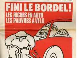 Charlie Hebdo, velo et auto