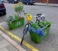 Bac a fleurs antivol pour velo