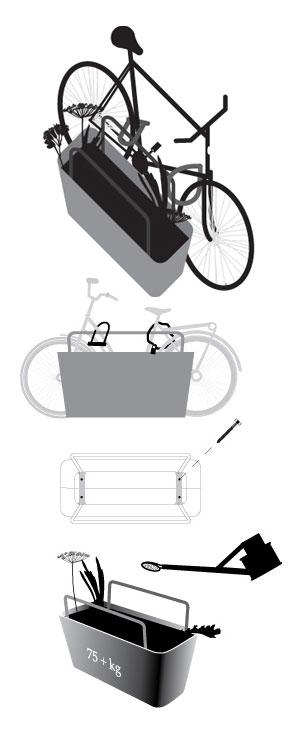 Mobilier urbain pour plantes et velos