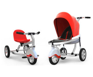 Poussette transformable en velo