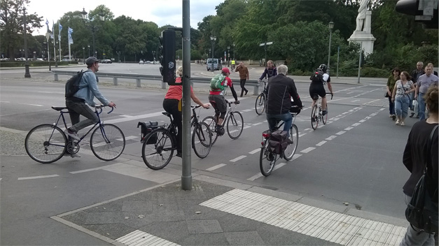 Amenagements cyclables a Berlin