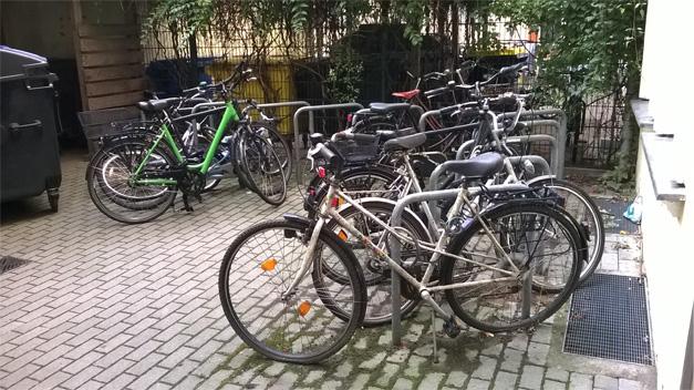 Parking a velos dans immeuble