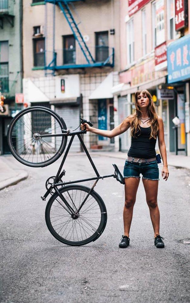 Velo feminin au style urbain